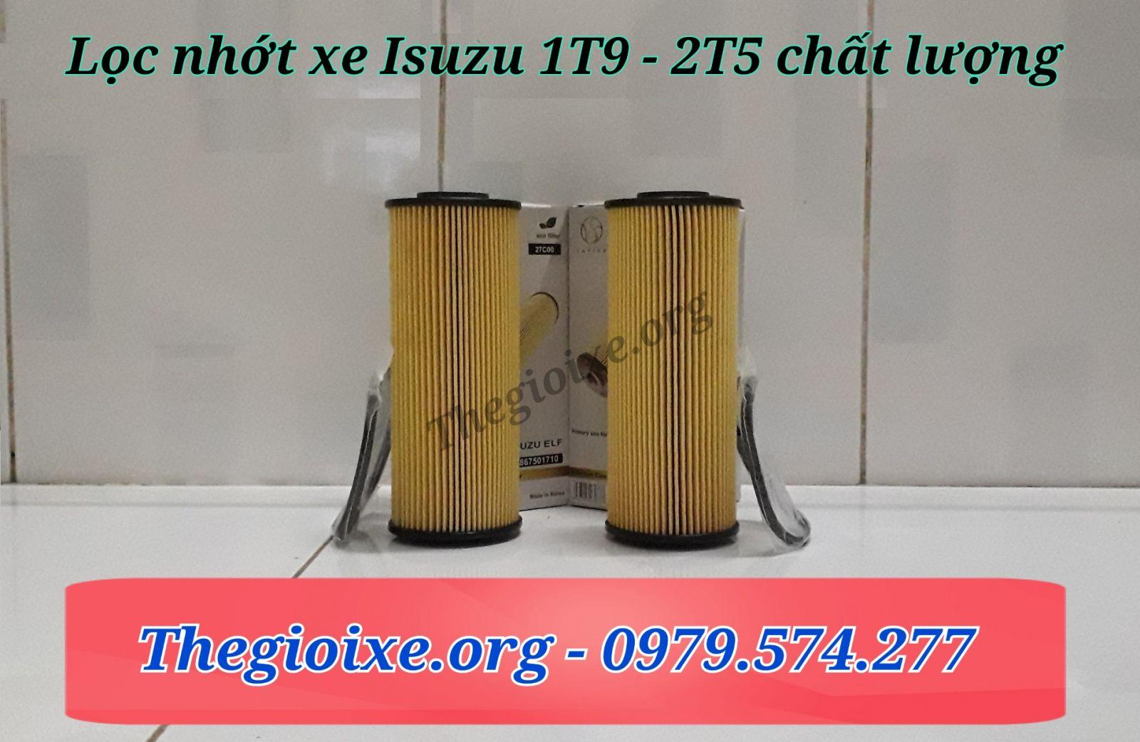 Lọc nhớt xe Isuzu 1t9 - 2t5