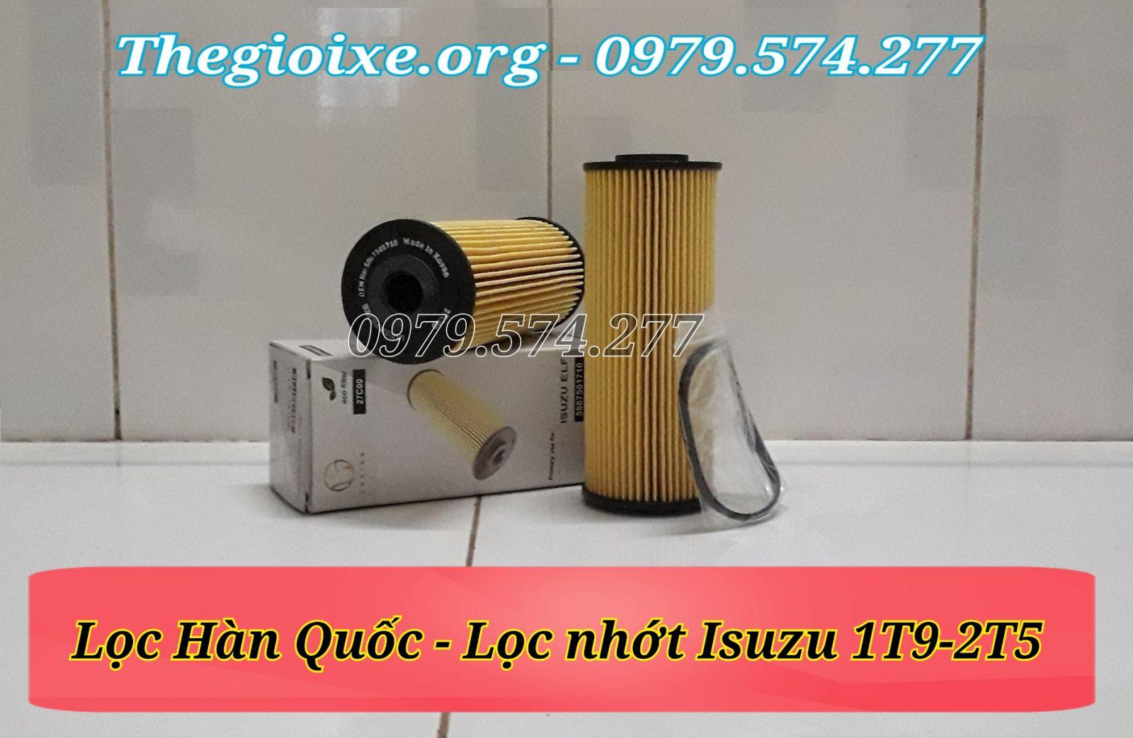 Lọc nhớt xe Isuzu 1t9-2t5